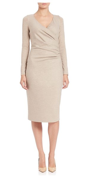 MAX MARA Teso wrap-front sheath - A ruched bodice enhances the form-flattering silhouette...