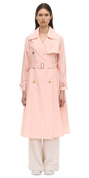 Max Mara Textured cotton blend trench coat in pink
