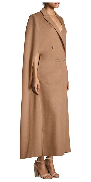 Max Mara verdun camel hair cape in camel - Tailored camel hair cape coat in button-front design....