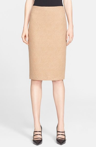 Max Mara zanzara wool jersey skirt in camel - Placed floral lace and a wearable neutral hue further...