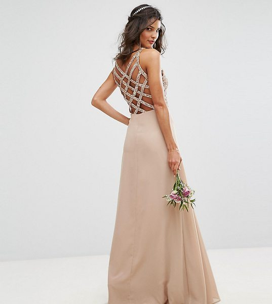 "Maya Delicate Sequin Maxi Dress With Cross Back Detail in pink - """"Maxi dress by Maya, Sequin embellished top, Fully..."