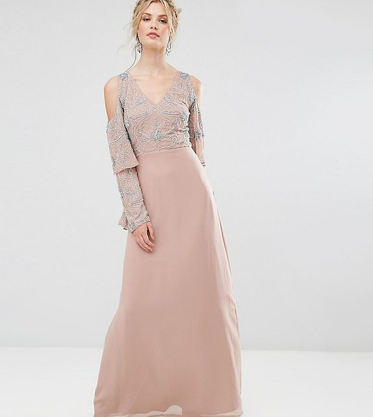"Maya Tall All Over Embellished Top Maxi Dress in pink - """"Tall dress by Maya Tall, Lined woven fabric,..."