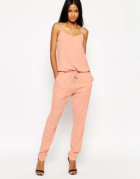 mbyM Jersey jumpsuit in 138 misty rose - Jumpsuit by mbyM Smooth, woven fabric Semi-sheer finish...
