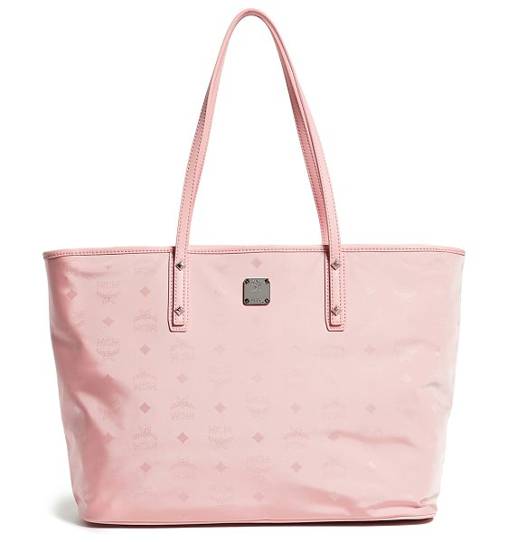 MCM dieter monogrammed tote in pink blush - Fabric: Monogrammed nylon Removable pouch included Zip...