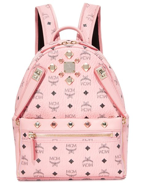 MCM dual stark backpack in soft pink - A pebbled MCM backpack, accented with polished studs and...
