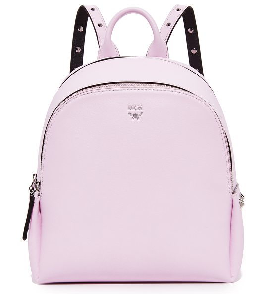 MCM polke studs backpack in prism pink - Cone studs detail the sides and straps of this petite...