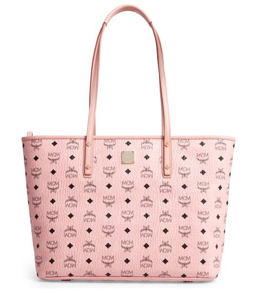 MCM medium anya tote in soft pink - A stylish solution on days when you have a lot to...