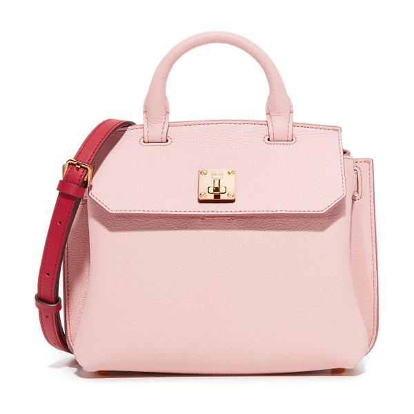 MCM micro milla tote in pale mauve - A petite MCM cross-body bag composed of pebbled leather....