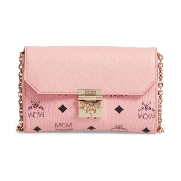 MCM millie visetos crossbody bag in pink blush - Wear it crossbody, double up the optional chain strap...