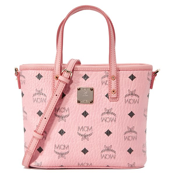 MCM mini tote - A mini MCM tote in textured, monogrammed leather. The...