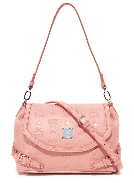 MCM monogram shoulder bag in pink blush