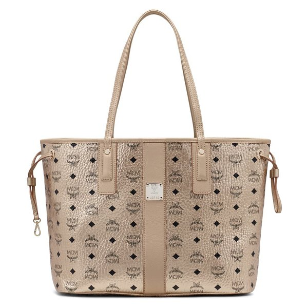 MCM project visetos coated canvas shopper in metallic