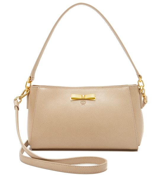 MCM Small cross body bag in warm sand
