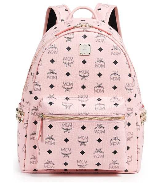 MCM small side stark backpack in soft pink