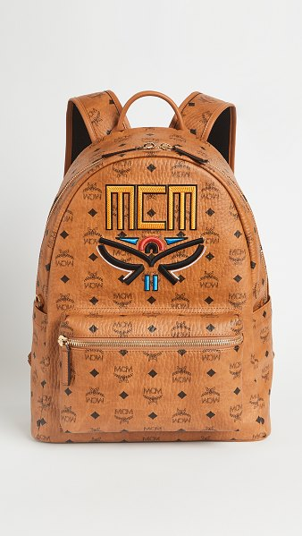MCM stark neo laurel backpack medium in cognac