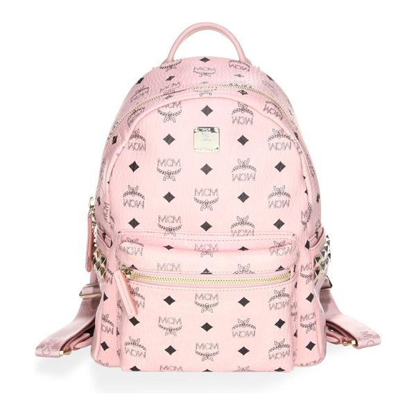 MCM stark small studded backpack in soft pink