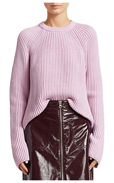 McQ by Alexander McQueen lace-up cotton knit in bright pink