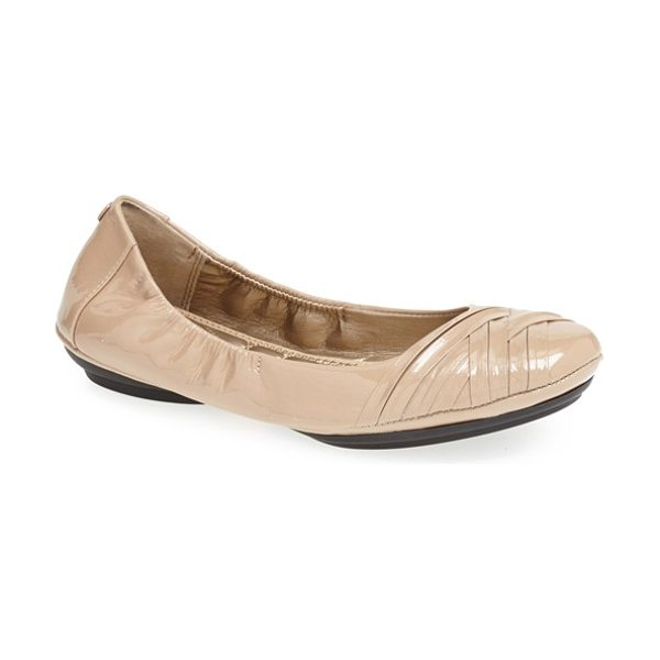 ME TOO 'fiona' leather ballet flat - Woven straps wrap the rounded toe of a supple leather...