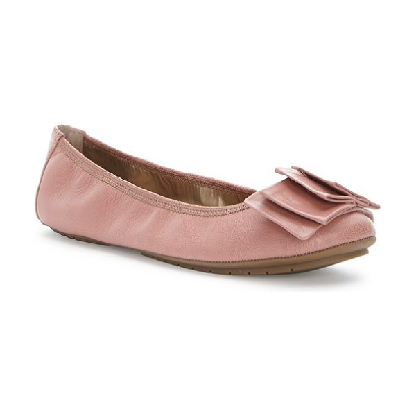 ME TOO 'lilyana 2.0' flat - Layered, origami-inspired folds grace the toe of a soft...