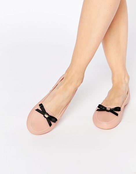 Mel by Melissa Moon bow loafers in nude - Shoes by Mel By Melissa Smooth upper Eyelet detail...