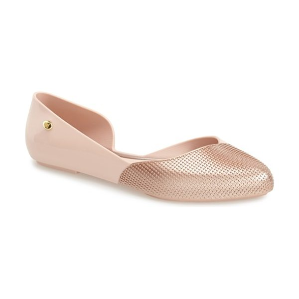 Mel by Melissa tangerina half dorsay flat in light pink - A flexible, fruit-scented flat made from 100% recyclable...