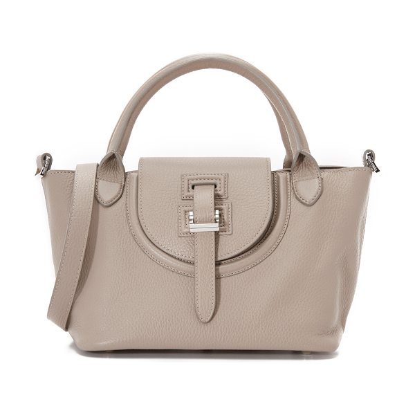 meli melo Classic mini thela halo bag in taupe - A scaled down signature meli melo handbag with polished...