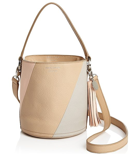 MELI MELO meli melo Santina Color Block Mini Leather Bucket Bag in pink multi/silver - meli melo Santina Color Block Mini Leather Bucket Bag-Handbags