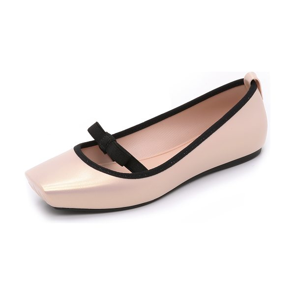 MELISSA Ballet bow flats - These pearlized PVC Melissa flats are inspired by...