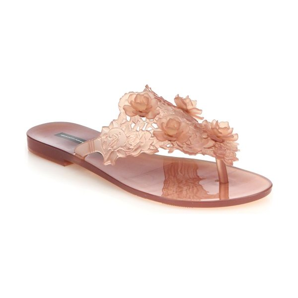 Melissa By alexandre herchovitch harmonic floral thong sandals in blush - Seasonal esssential with a statuesque floral designPVC...