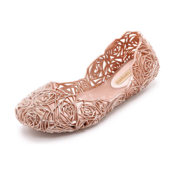 Melissa Campana fitas ii flats in rose gold - Angular rosettes add a subtle, nature inspired element...