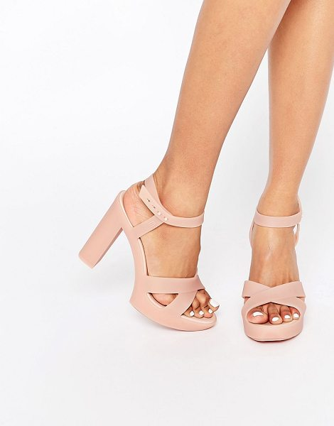 Melissa Classic Lady Heeled Sandals in pink - Shoes by Melissa, Recyclable plastic upper, Subtle...