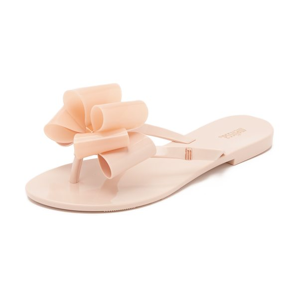 Melissa Harmonic ix sandals in light pink - A glossy two tone bow accents the thong strap on these...