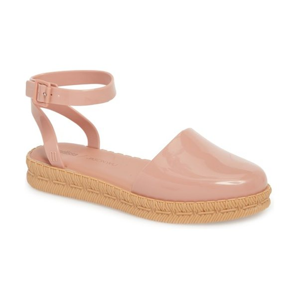 Melissa + jason wu espadrille sandal in pink beige - An espadrille-textured sole grounds a streamlined...