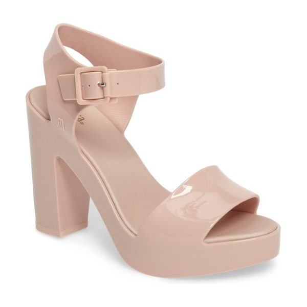 Melissa mar platform sandal in pink - Seamless construction looks clean and sleek on a...