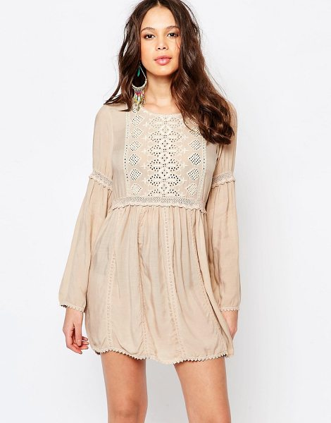 Melissa Odabash Embroidered Beach Dress in beige - Beach dress by Melissa Odabash, Super lightweight woven...