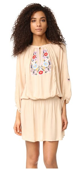 Melissa Odabash nadja dress in beige - Cheery floral embroidery accents this charming Melissa...