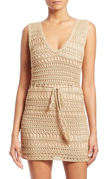 MELISSA ODABASH tiffany crochet coverup - Figure-hugging silhouette in hand-knit metallic crochet....