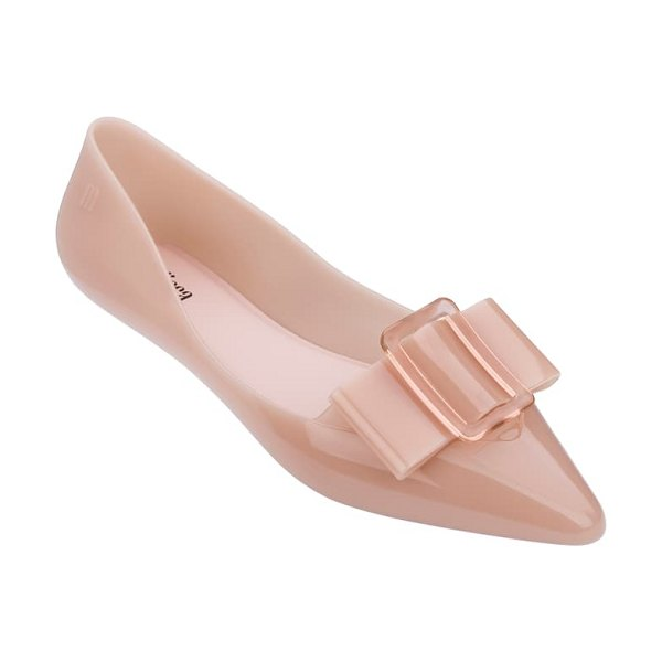 Melissa pointy iii jelly pointed toe flat in pink