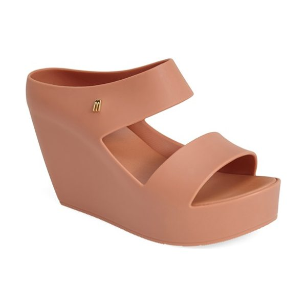 Melissa + tropico surreal 'creative' wedge sandal in beige - A seamless construction accentuates the sculpted wedge...