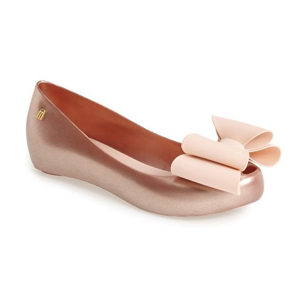 Melissa ultragirl sweet ix flat in rose gold - Bubblegum sweet and twice as nice, a voluminous patent...