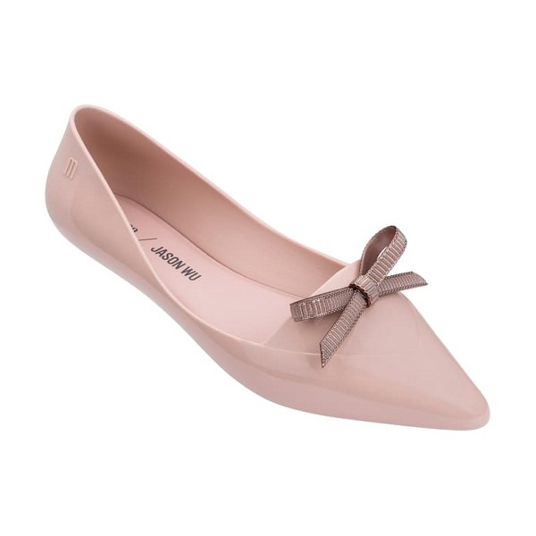 Melissa x jason wu bow jelly flat in pink