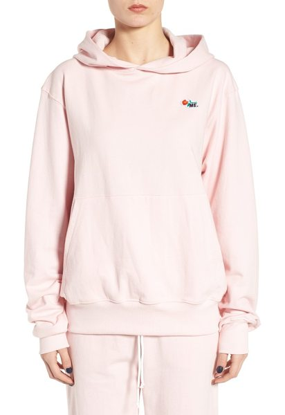 MELODY EHSANI me pullover hoodie - A signature ME rose-embroidered patch makes this soft...