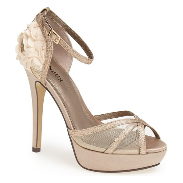 Menbur lali sandal in stone - A glitter-encrusted strap intensifies the bold glamour...