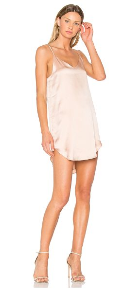 MERRITT CHARLES Goldie Dress in rose - Self & Lining: 100% silk. Dry clean only. Fully lined....