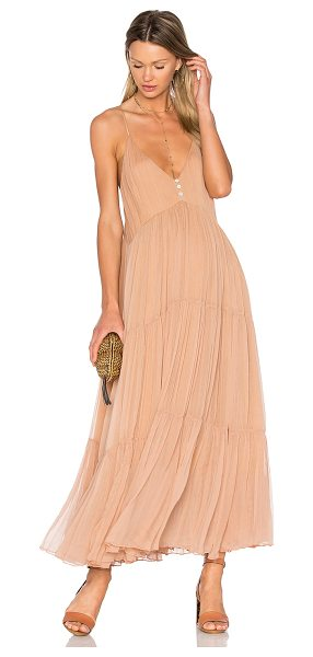 MES DEMOISELLES Celeste Dress in nude - 100% viscose. Dry clean only. Fully lined. Adjustable...