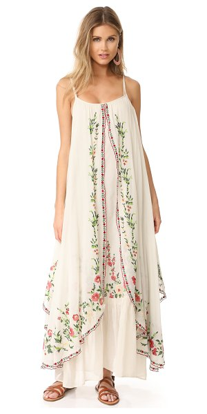 MES DEMOISELLES josephine flora embroidered dress in ecru - NOTE: Runs true to size. Please see Size & Fit tab....