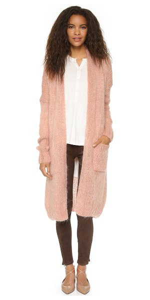MES DEMOISELLES Loretta cardigan in rose - Metallic strands bring subtle shimmer to this roomy Mes...