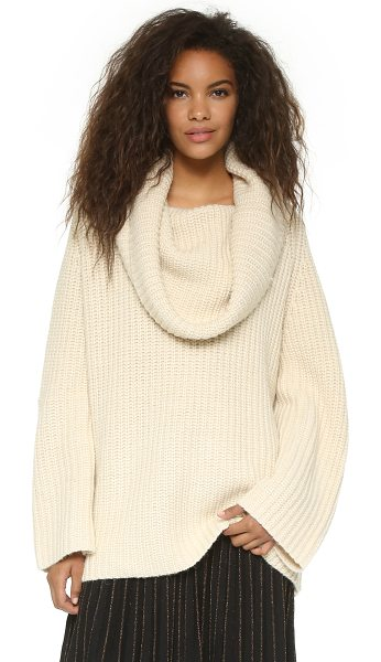 MES DEMOISELLES Nomade chunky turtleneck - A cozy, oversized Mes Demoiselles sweater with a slouchy...