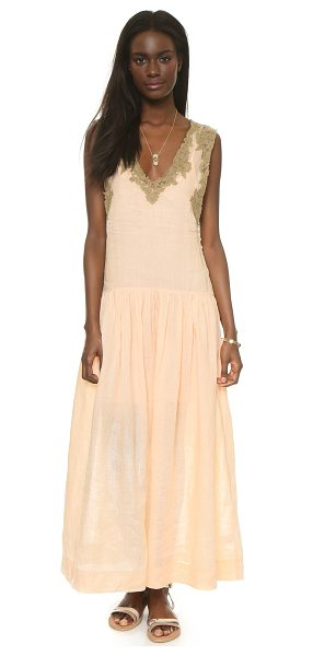MES DEMOISELLES Nymphe dress - Contrast lace lends refined detail to this relaxed Mes...