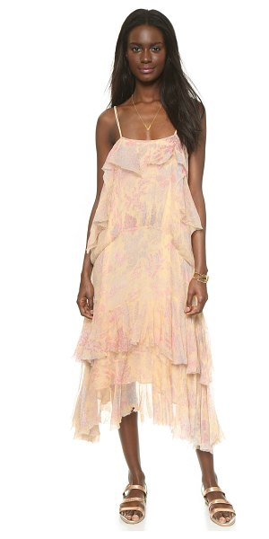 MES DEMOISELLES Paloma dress in nude - A soft floral print accentuates the feminine feel of...
